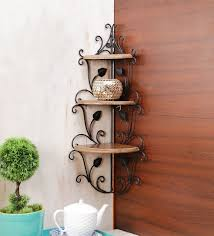 corner racks furniture. brown mango wood corner rack by onlineshoppee racks furniture o