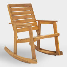 outdoor wooden chairs with arms. Modren Wooden Natural Brown Wood Outdoor Rocking Chair World Market Regarding Wooden  Chairs Remodel 10 Throughout With Arms