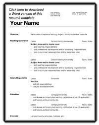 Blank Resume Templates For Microsoft Word Resume Template Info