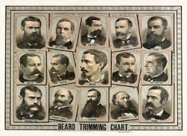 Details About Beard Style Chart Poster Mens Barber Shop Art 1800s Advertisement