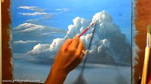 how to paint clouds in acrylic instructional painting lesson by jm lisondra you