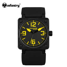 online get cheap mens square face watches aliexpress com infantry mens quartz watches military square face watches analog male clock tactical army black silicone