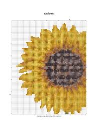 Free Cross Stitch Patterns And Links Sunflower Pattern In Color