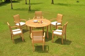 image is loading a grade teak 7pc dining 52 034 round