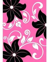 pink and black rug. Black And Pink Area Rug Th Zebra