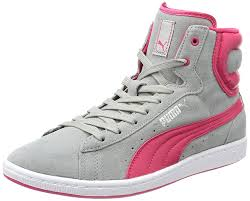 puma high tops womens. puma womens cross shot wn\u0027s hi-top sneakers gray - grau limestone gray-virtual pink 02 women\u0027s shoes trainers high tops