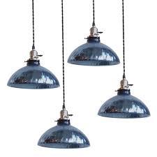 blue mercury glass pendant lights 1