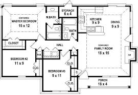 3 Bedroom 2 Bath House Plans