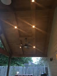 Patio Track Lighting Can Lights Under Covered Patio Can Lights Ceiling Lights