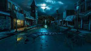 Dark Village Art Hd wallpaper