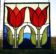 tulip stained glass stained glass flowers stained glass panels stained glass art stained glass ornaments stained tulip stained glass