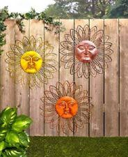 outdoor wall decor metal art patio large rustic hanging sculpture garden sun new on large metal patio wall art with outdoor sun decor ebay