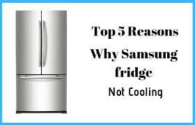 samsung fridge not cooling