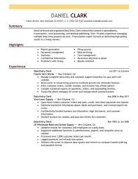 Office Clerk Resume Under Fontanacountryinn Com