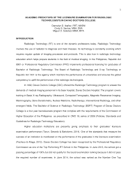 Pdf Academic Predictors Of Radiologic Technology Licensure