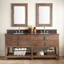 bathroom double sink cabinets. Plain Sink Reclaimed Wood Bathroom Double Vanities Inside Sink Cabinets A