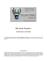 The Loan Tracker Mortgage Software And Loan Origination
