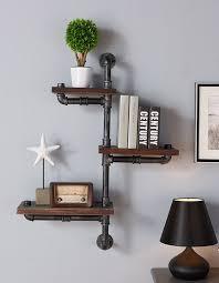hanging wall shelves t austin design 3 shelves wood floating wall shelf reviews