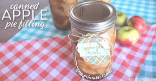 Recipe Labels Canned Apple Pie Filling Recipe With Printable Labels
