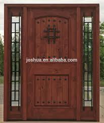 Exterior Mahogany Solid Wood Door Front Entry Door With Sidelites ...