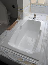 shower reglazed in white
