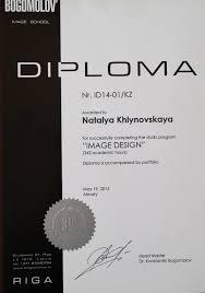 базовый курс обучения Визаж имидж имидж дизайн коррекция  Диплом Имидж Дизайн сопровождается портфолио