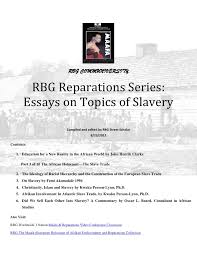 rbg reparations series essays on topics of slavery rbg communiversity rbg reparations series essays on topics