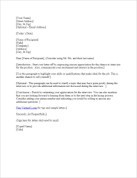 Letter To Interview Free Interview Thank You Letter Template Samples