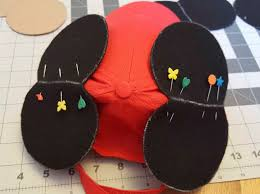i ve been sewing a lot of mickey ears lately and to keep from having to create new bobbins and change the thread frequently i ve been sewing with clear