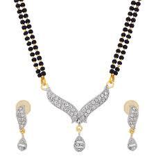 american diamond mangalsutra set by luxor jewellery mangalsutra sets home18