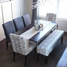 diy splicover bench the bench can easily be pulled into the adjacent dining room