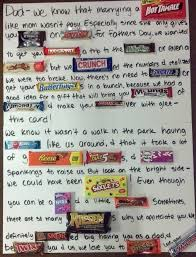 Weddings Check Out The Candy Letter I Made For My Dad On Father S