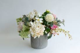 decoration best silk flowers artificial roses in vase artificial