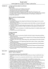 Junior Engineer Resume Samples Velvet Jobs