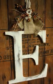 front door letterswreath letter for front door love the burlap  Autumn Ideas