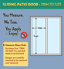 sliding patio door trim to size service