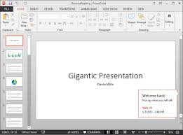 Resume Powerpoint Presentation Powerpoint 2013 Pick Up Where You Left Off In Your
