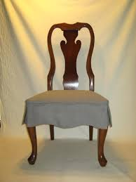 seat covers for dining room chairs dining room brown varnished mahogany chair with gray skirted seat