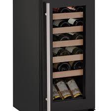 uline u 1215wcb 00a wine refrigerator 15 inch reversible glass door
