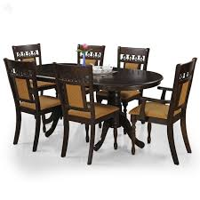 oak dining table and chairs. Royal Oak Angel Six Seater Dining Table Set (Brown) - Best Home And Kitchen Store Chairs