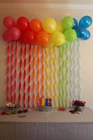birthday wall decorations simple wall decoration with ribbons