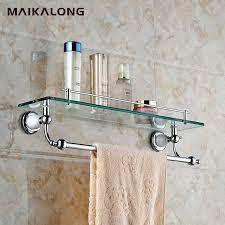 phenomenal bathroom glass shelf with towel bar bathroom glass shelf wall mount with towel bar and