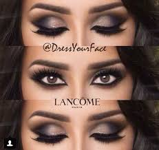 sultry smokey eyeshadow with a clean arabic liner all around to create the ultimate cat eye