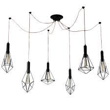 kiven 6 cage rope pendant light modern industrial chandelier rustic lighting guard industrial pendant retro chandeliers