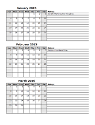 editable monthly calendar 2015 2015 two year calendar free printable templates