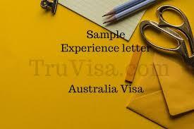 experience letter sample sample experience letter for australia 189 visa assessment