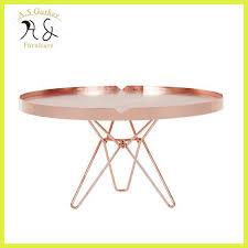 modern brass metal small coffee table
