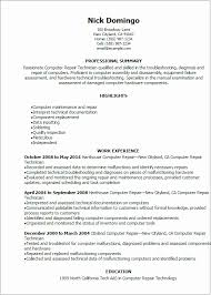 Fix My Resume Computer Repair Technician Resume My Perfect Resume