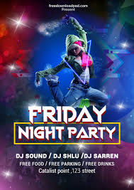 Free Party Flyer Templates Friday Night Party Flyer Template Freedownloadpsd Com