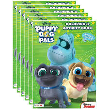 Disney Juniors Puppy Dog Pals 32 Page Coloring And Activity Book